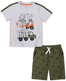 Baby Boys 2-Pc. Construction T-Shirt & French Terry Shorts Set