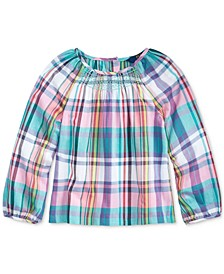 Toddler Girls Cotton Madras Top