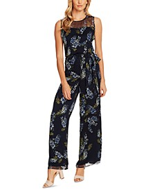 Weeping Willows Belted Jumpsuit