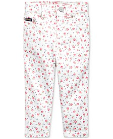 Baby Girls Floral Stretch Jeans