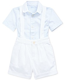 Baby Boys Shirt & Overalls Set