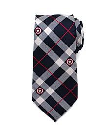 Captain America Plaid Men's Tie