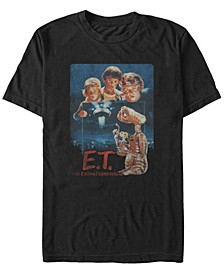 E.T. the Extra-Terrestrial Men's Distressed Vintage-Like Photograph Short Sleeve T-Shirt