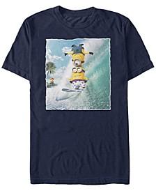 Minions Men's Surf Tricks Portrait Short Sleeve T-Shirt