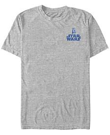 Star Wars Men's R2-D2 Left Chest Logo Short Sleeve T-Shirt