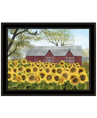 Sunshine by Billy Jacobs, Ready to hang Framed Print, White Frame, 19