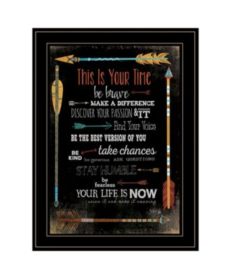 This is Your Time by Marla Rae, Ready to hang Framed Print, White Frame, 21