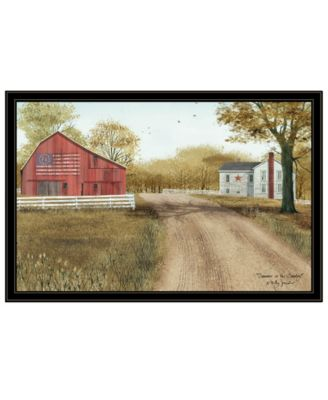 Summer in the Country by Billy Jacobs, Ready to hang Framed Print, Black Frame, 19