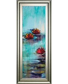 Aqua Lotus by Karen Lorena Parker Watercolor Framed Print Wall Art Collection