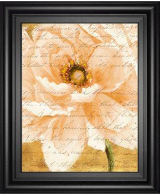 Beautiful Cream Peonies Script II by Patricia Pinto Framed Print Wall Art, 22