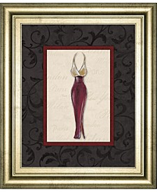 Fashion Dress  by Susan Osbourne Framed Print Wall Art Collection