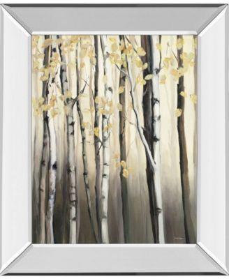 Golden Birch I by Julia Purinton Mirror Framed Print Wall Art - 22