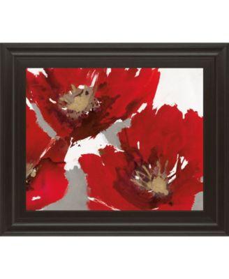Red Poppy Forest I by N. Barnes Framed Print Wall Art - 22