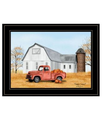 Pumpkin Harvest by Billy Jacobs, Ready to hang Framed Print, Black Frame, 19