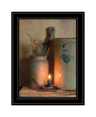 No. 3 Bee Sting on a crock by SUSAn Boyer, Ready to hang Framed Print, Black Frame, 15
