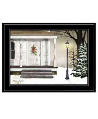 Peace on Earth by Billy Jacobs, Ready to hang Framed Print, White Frame, 19
