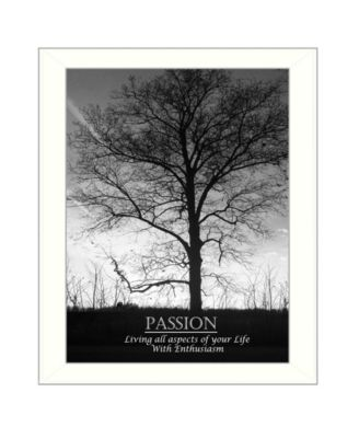 Passion By Trendy Decor4U, Printed Wall Art, Ready to hang, White Frame, 18