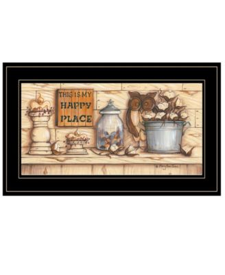 My Happy Place by Mary Ann June, Ready to hang Framed Print, White Frame, 21