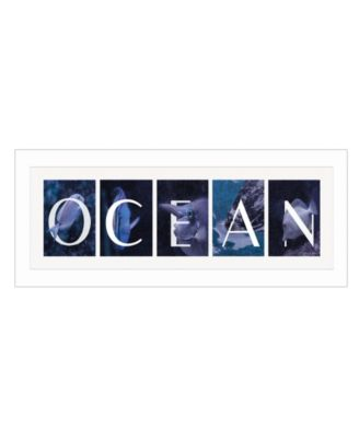 Ocean By Robin-Lee Vieira, Printed Wall Art, Ready to hang, White Frame, 20