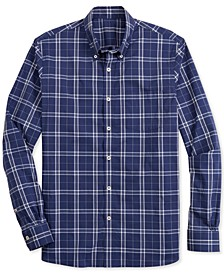 Men's Performance Mini-Check Shirt, Created for Macy's