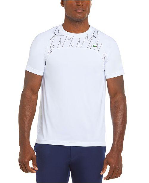 Lacoste Men S Sport Novak Djokovic Colorblocked Off Court T Shirt Reviews T Shirts Men Macy S