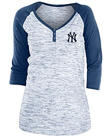 New York Yankees Women's Space Dye Raglan Shirt
