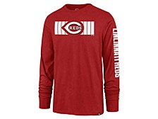 Cincinnati Reds Men's Cross Stripe Long Sleeve T-Shirt