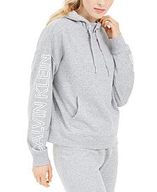 Calvin Klein Performance Logo-Sleeve Hoodie