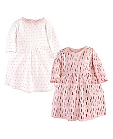 Baby Toddler Girls Winter Forest Dresses, Pack of 2
