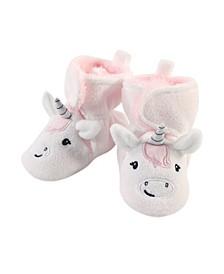 Baby Toddler Girls Unicorn Cozy Fleece Booties