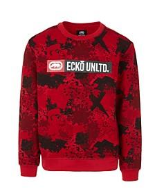 Men's Sponge Camo Crewneck Fleece Sweatshirt