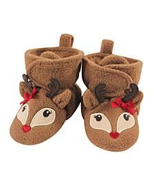 Baby Girls and Boys Reindeer Cozy Fleece Booties