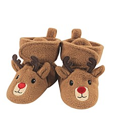 Baby Girls and Boys Reindeer Cozy Fleece Booties