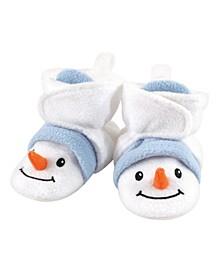 Baby Girls and Boys Snowman Cozy Fleece Booties