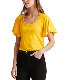 Ruffle-Sleeve Top