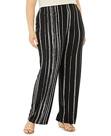 Plus Size Printed Pants, Created for Macy's