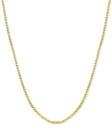 """Fine Silver Plated Box Link 24"""" Chain Necklace"""