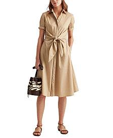 Lauren Ralph Lauren Plus Size Fit-And-Flare Shirtdress