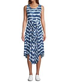 Sleeveless Tie-Dyed Maxi Dress