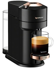 Vertuo Next Premium Coffee and Espresso Maker by DeLonghi, Black Rose Gold