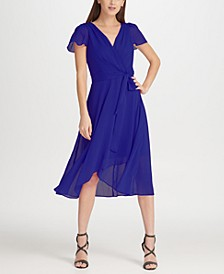 Hi-Lo Surplice Chiffon Dress, Created for Macy's