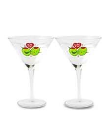 Olive You Martini Glass - Set of 2