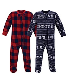 Baby Girls and Boys Sweater Plaid Fleece Sleep and Play