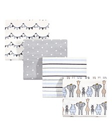 Baby Girls and Boys Royal Safari Flannel Receiving Blankets