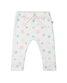 Baby Girls Snowflakes Drawstring Legging