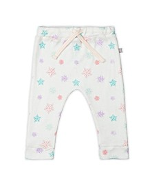 Baby Girls Snowflakes Drawstring Trouser