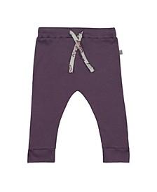 Baby Girls Majestic Elephant Plum Drawstring Trouser