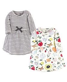 Toddler Girls Flutter Garden Long-Sleeve Dresses, Pack of 2