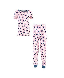 Big Girls and Boys Blossoms Tight-Fit Pajama Set, Pack of 2