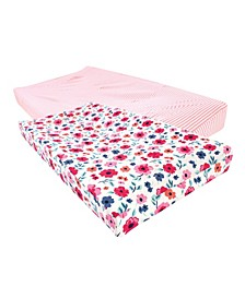 Baby Girls and Boys Garden Floral Changing Pad Cover